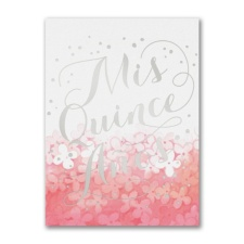 Mis Quince Shine - Birthday Invitation